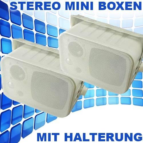 EL100010 Dynavox LS-5L3 mini stereo Lautsprecher Paar Weiß