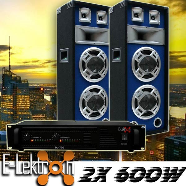 EL189765 DJ PA Anlage DJ-700 Endstufe & SPL220 Lautsprecher