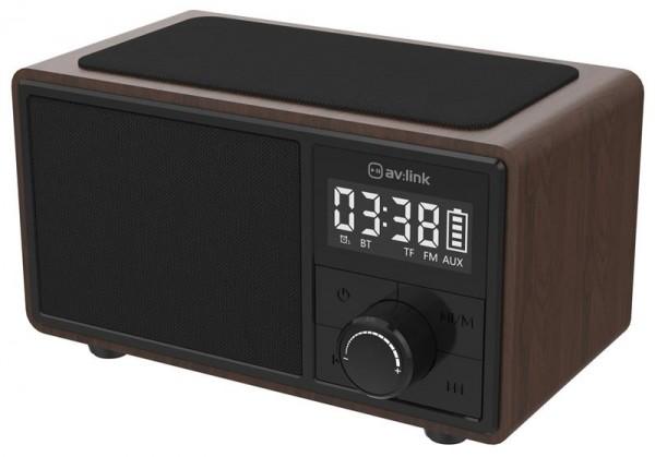 EL120220 av:link Fusion Uhrenradio Bluetooth & drahtlose Ladestation
