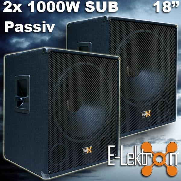 EL279754 PA Subwoofer PAAR E-Lektron SUB-P45 45cm passiv