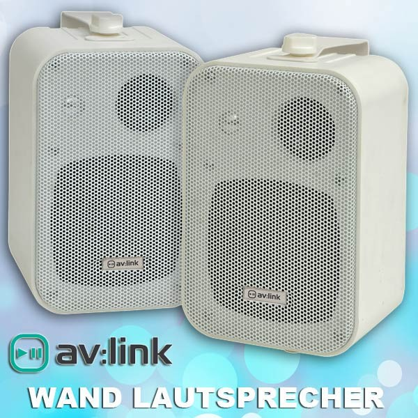 EL100006 av:link B30-W Kompakt stereo Lautsprecherpaar Weiß