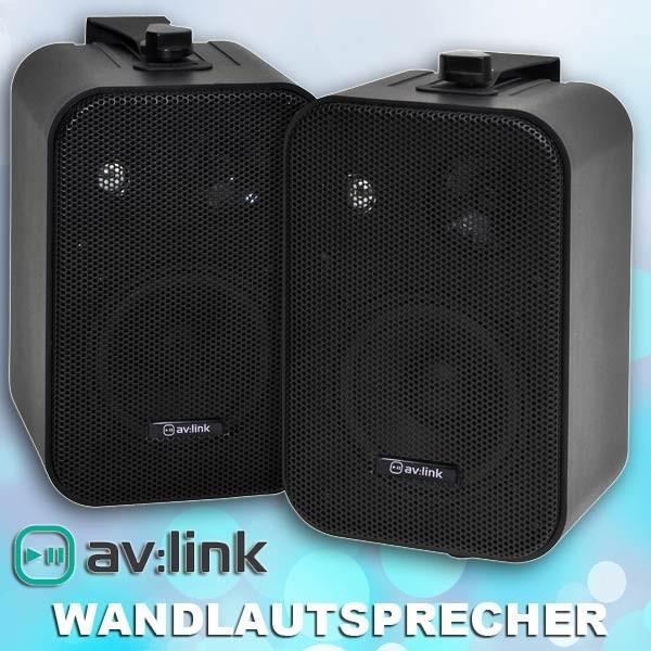 EL100005 av:link B30-B Kompakt stereo Lautsprecherpaar schwarz