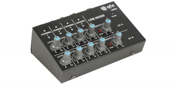 EL170205 qtx LM81 stereo Line-Mischpult 2x 4-Kanal