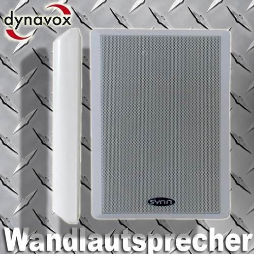 EL100111 Dynavox WS-502 Flatpanel Wandlautsprecher Satz weiß