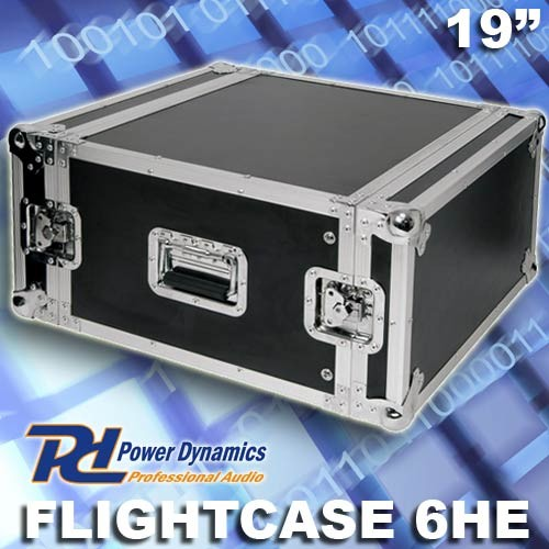 "EL171430 Power Dynamics F6U Flightcase 19"" - 6HE"