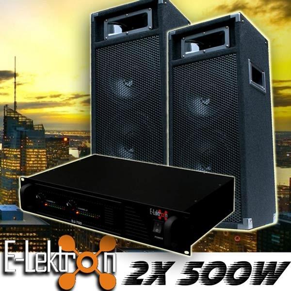 EL189758 DJ PA Anlage DJ-700 Endstufe & PW220 Lautsprecher