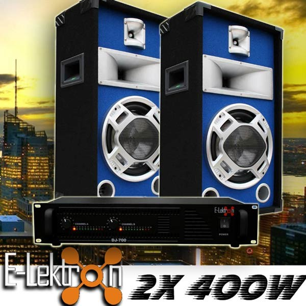 EL189762 DJ PA Anlage DJ-700 Endstufe & SPL25 Lautsprecher