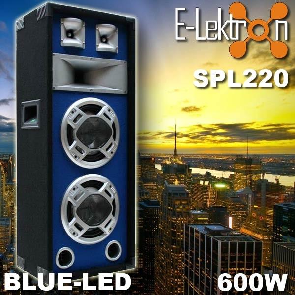 EL179509 E-Lektron SPL220 Blue-LED Lautsprecher