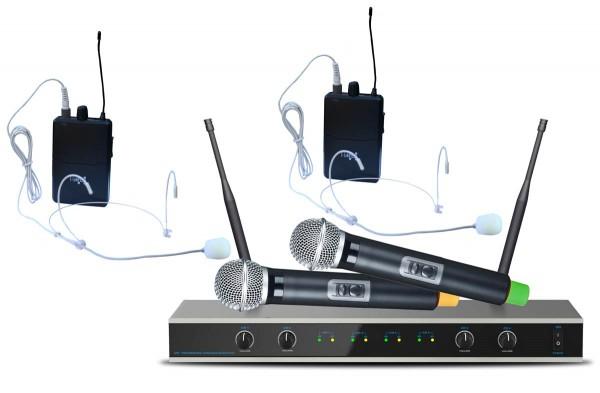 EL173778 E-Lektron IU-4011MH UHF Funkmikrofon System 2 Mikro/2 Headset