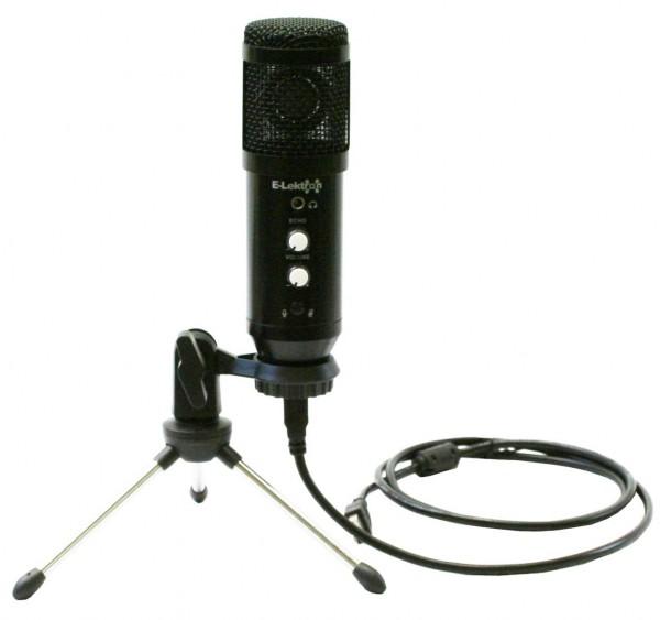 EL173528 E-Lektron EL-08USB PC Kondensator-Mikrofon inkl. Tischständer