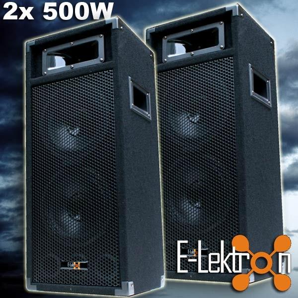 EL279746 E-Lektron PW220 DJ PA Lautsprecher Paar