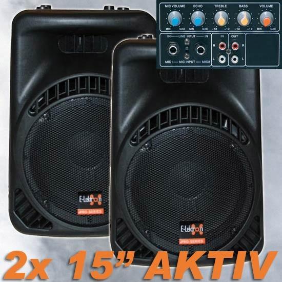 EL715802 E-Lektron 15800MA Aktiv Lautsprecher Paar