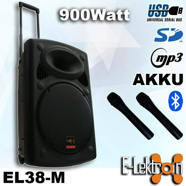 EL815860 E-Lektron EL38-M mobiles DJ PA Soundsystem