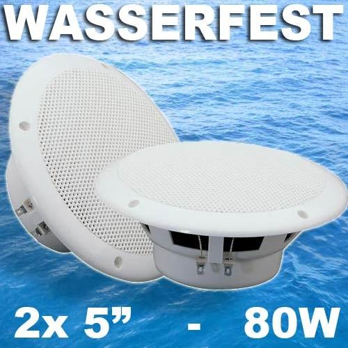 """EL125032 Vonyx MSV50 Marine 5"""" Wasserfester Lautsprecher Satz 2-Wege"""