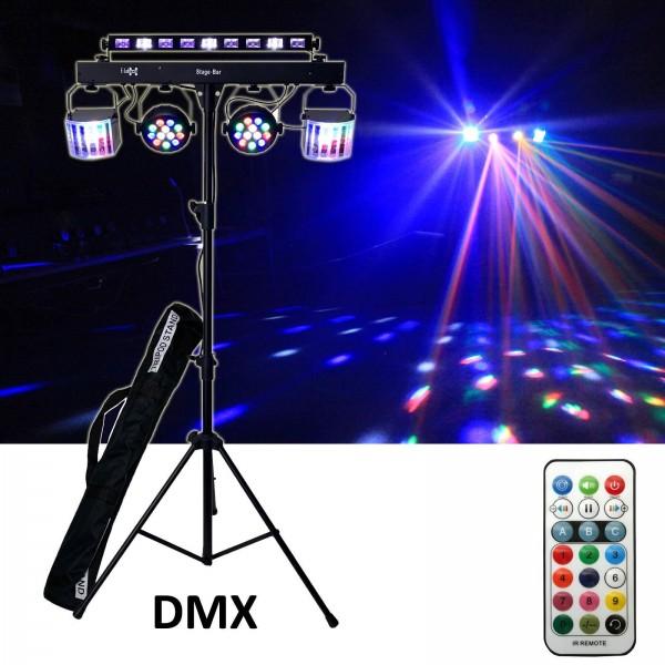EL153548 E-Lektron Stage-Bar DMX 5x LED Lichteffekt inkl. Stativ