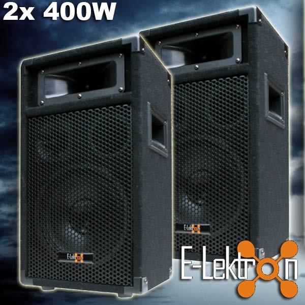 EL179761 E-Lektron PW20 DJ PA 3-Wege Lautsprecher Paar