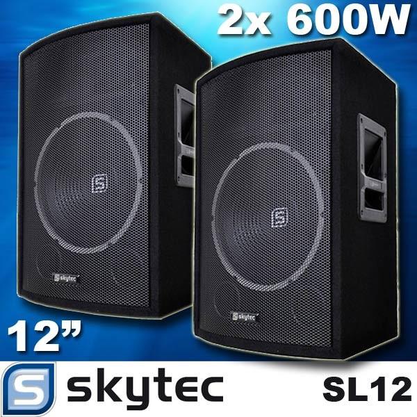 EL278732 Skytec SL12 / 30cm DJ PA Lautsprecher Paar
