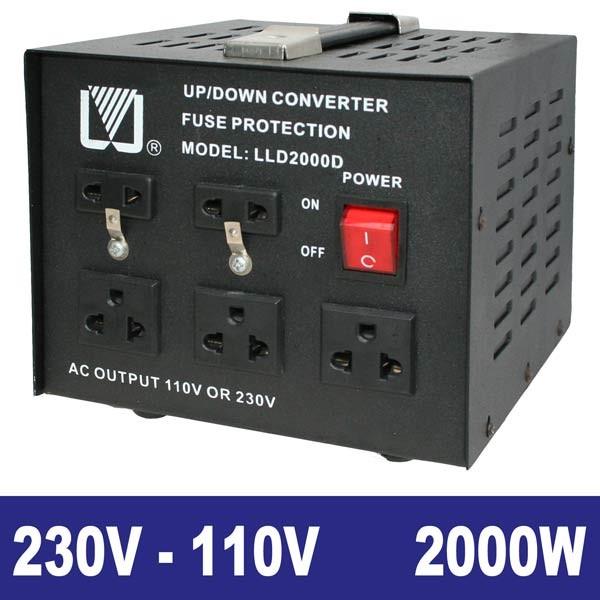 EL651200 Spannungswandler 230/110V 2000W