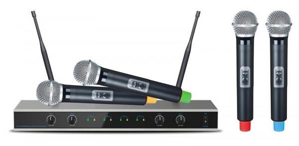 EL173766 E-Lektron IU-4011 UHF Funkmikrofon System mit 4 Mikrofone