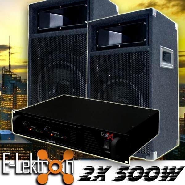 EL189755 DJ PA Anlage DJ-700 Endstufe & PW25 Lautsprecher
