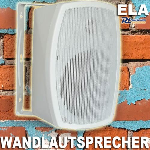 "EL952961 Power Dynamics PD-ISPT5W ELA Wandlautsprecher 5"" weiß"
