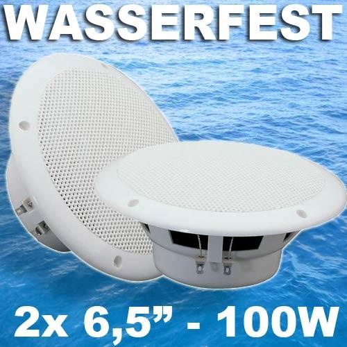 EL125063 Vonyx Marine 6.5 Wasserfester Lautsprecher Satz