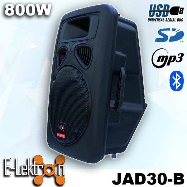 "EL812620 E-Lektron JAD30-B digital Soundsystem 12"" USB & Bluetooth"