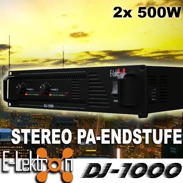 EL199085 E-Lektron DJ-1000 DJ PA-Verstärker