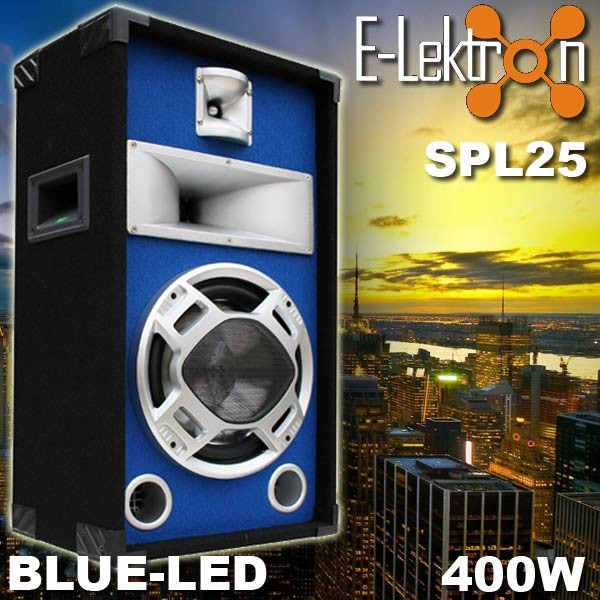 EL179500 E-Lektron Blue-LED Lautsprecher SPL25