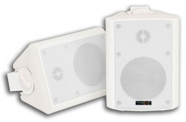 """EL100181 E-Lektron EWL4P-W Lautsprechersatz 4"""" inkl. Wandhalter Weiß"""