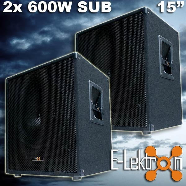 EL279750 E-Lektron SUB-P38 PA Subwoofer Paar 38cm
