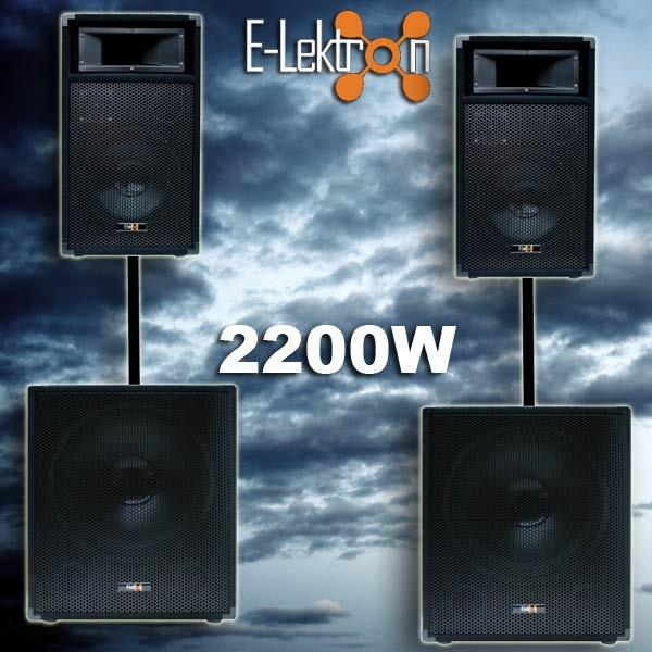 EL189426 E-Lektron Lautsprecheranlage SUB-P38 + PW25 Topteile