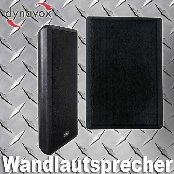 EL100110 Dynavox WS-502 Flatpanel Wandlautsprecher Satz schwarz