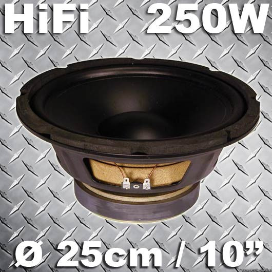 EL902214 Fenton Hifi Lautsprecher PP Membran 25cm / 125W