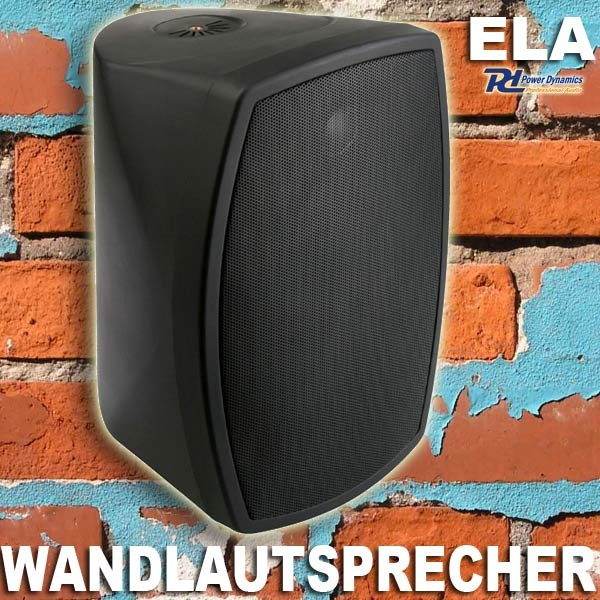 "EL952963 Power Dynamics PD-ISPT5B ELA Wandlautsprecher 5"" schwarz"