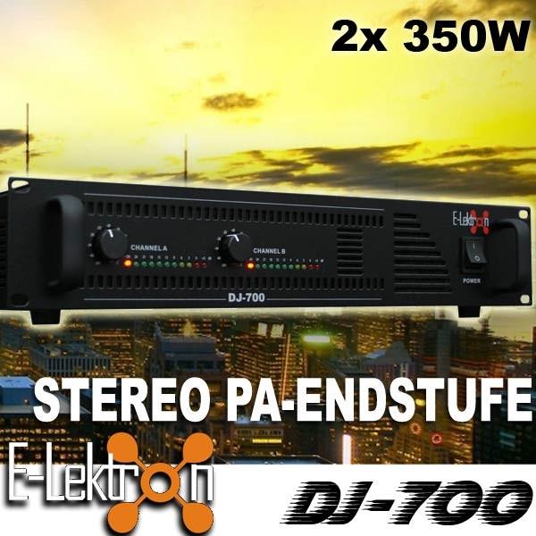 EL199082 E-Lektron DJ-700 DJ PA-Verstärker