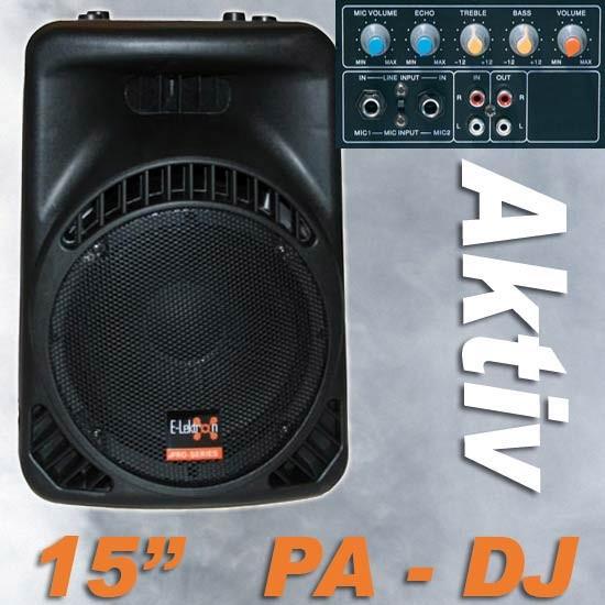 EL715800 E-Lektron 15800MA DJ PA Aktiv Lautsprecher 38cm