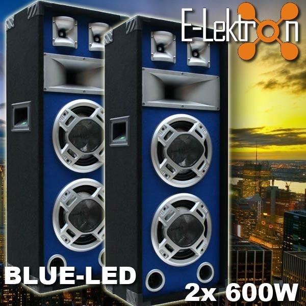 EL279509 E-Lektron SPL220 Blue-LED Lautsprecher Paar