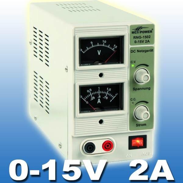 EL650606 Labornetzgerät 0-15V / 2Amp - RNG-1502