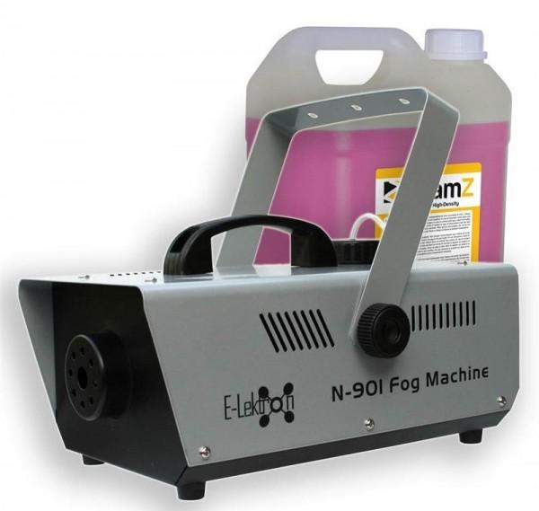 EL189042 E-Lektron N-901 Nebelmaschine 900W inkl. 5L Nebelfluid