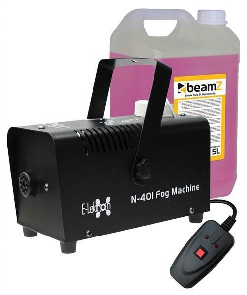 EL189036 E-Lektron N-401 Nebelmaschine 400W inkl. 5L Nebelfluid