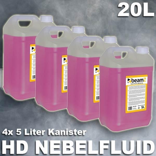 EL160587 Beamz 4x 5L HD-Nebelfluid (P) auf Wasserbasis