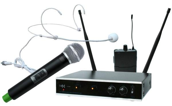 EL173784 E-Lektron IU-2082HM UHF Funkmikrofon System 1xHand/1xHeadset