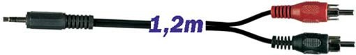 EL104984 Stereo 3,5mm Klinke - Cinchkabel 1,2m