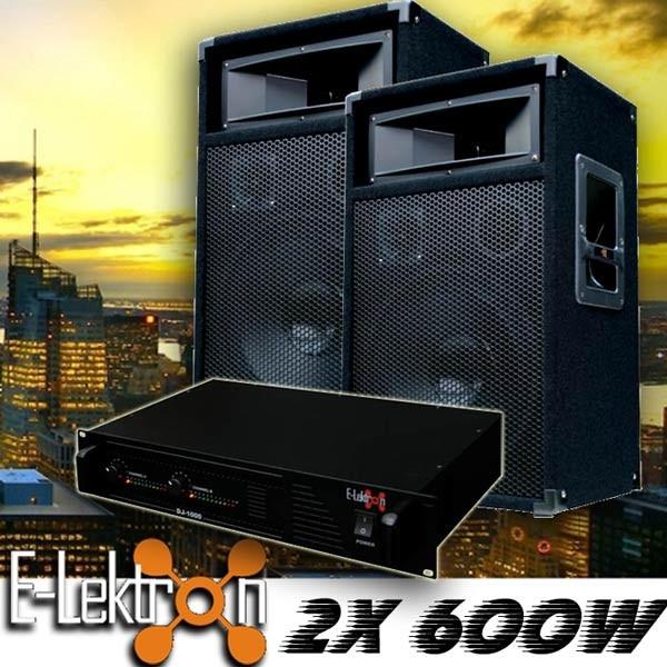 EL189768 DJ PA Anlage DJ-1000 Endstufe & PW30 Lautsprecher