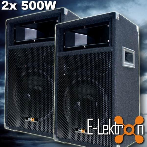 EL279764 E-Lektron PW25 DJ PA Lautsprecher Paar