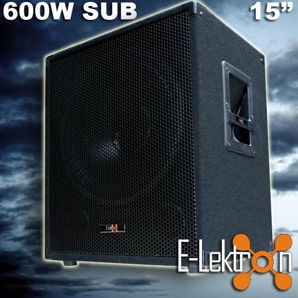 EL179750 E-Lektron SUB-P38 PA Subwoofer 38cm