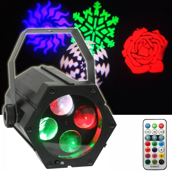 EL153545 E-Lektron Gobo-9W USB RGBW LED Party Gobo Projektor