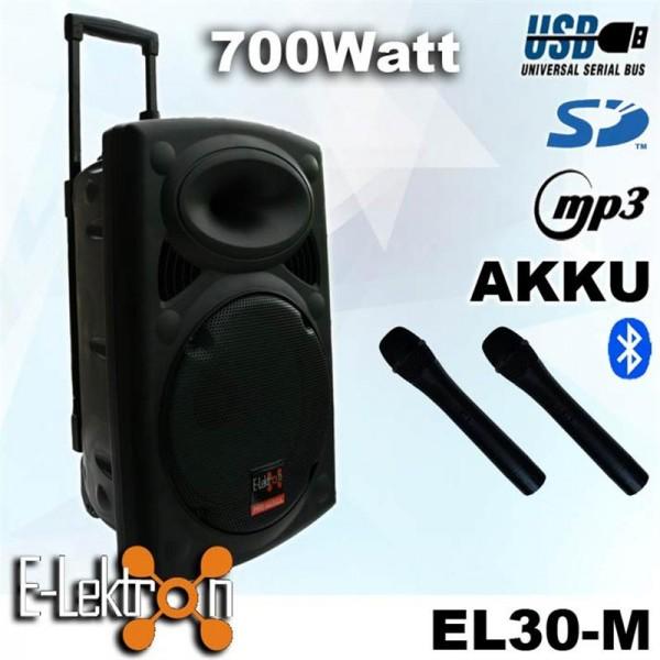 EL812660 E-Lektron EL30-M mobiles DJ PA Soundsystem