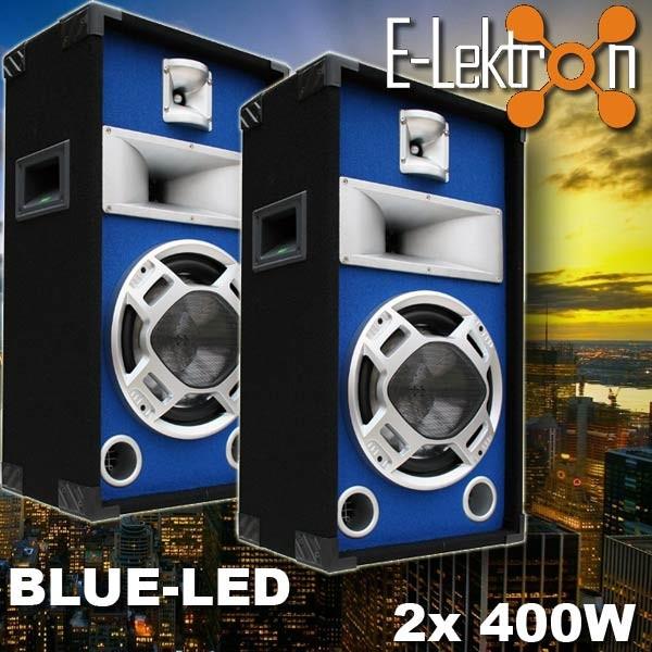 EL279500 E-Lektron Blue-LED Lautsprecher PAAR SPL25
